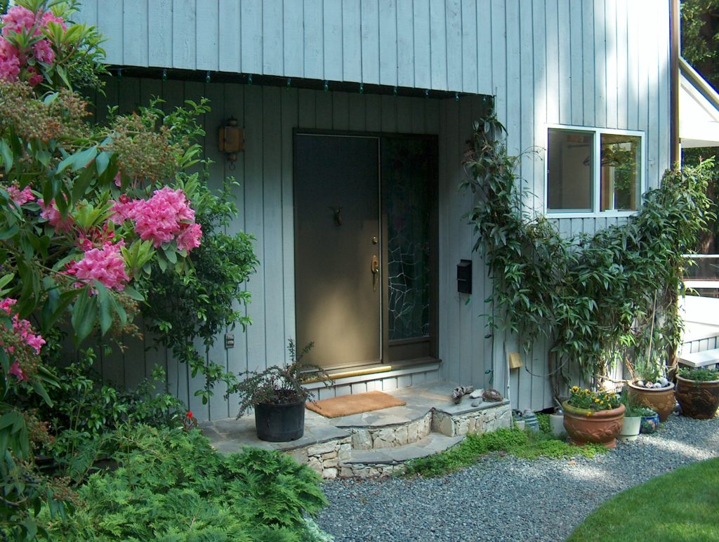 Front Door 9606 Ardmore Dr., Pat Bay Waterfront Home