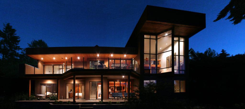 Windows @ Evening Fenwick Rd.. Cowichan Bay