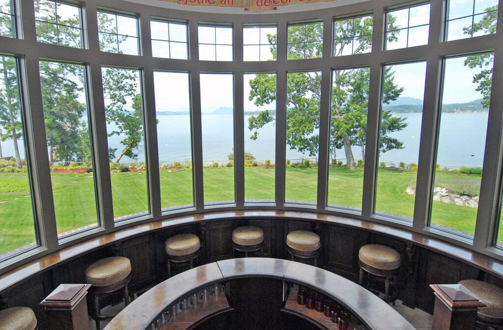 West Saanich Road Estate windows views over Saanich Inlet.PeterNashh.ca