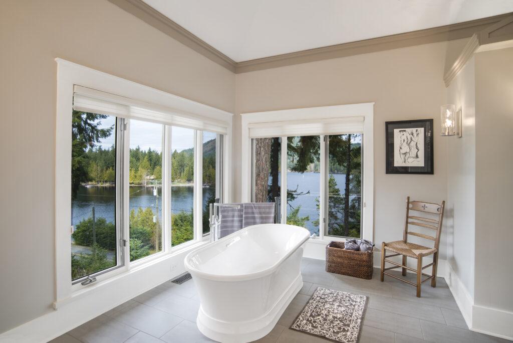 Master Bathroom Windows Shawnigan Lake