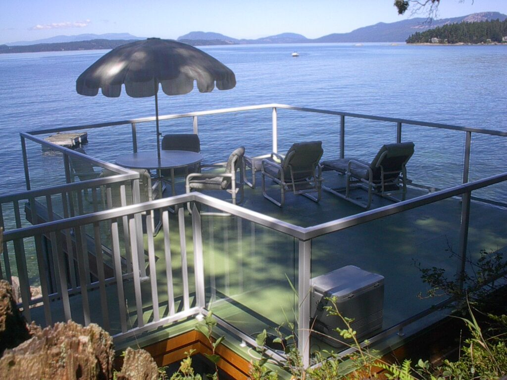 Boathouse Deck Saanich Inlet, Coles Bay, No. Saanich PeterNash.com