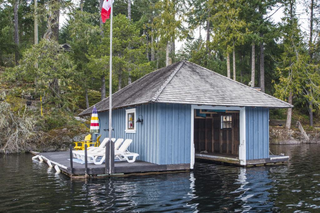 West Shawnigan Lake Rd Boathouse & South Deck