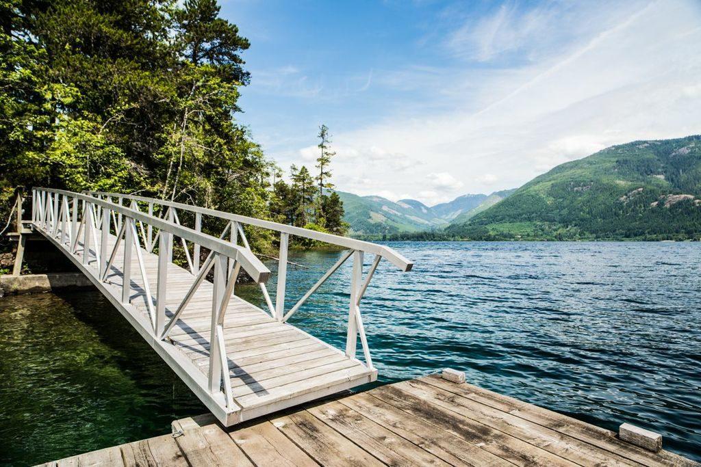 Dock Ramp On Cowichan Lake, Vancouver Island