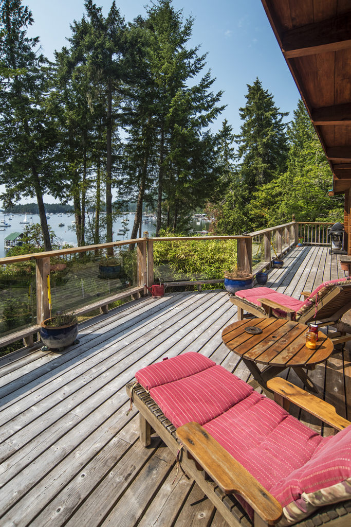 Deck @ 232 Southwind Rd., Montague Harbour, Galiano Island