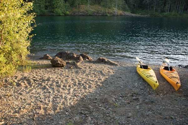 Cowichan Lake Island Beach