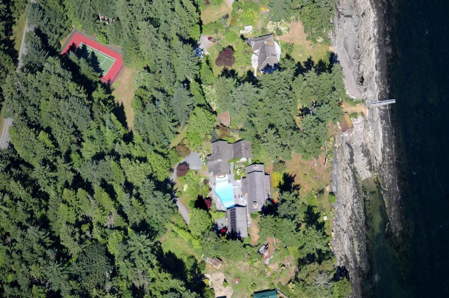 Aerial Sturdies Bay Estate, Galiano Island