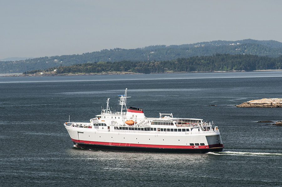 Coho Ferry Departing Victoria For Port Angeles, WA