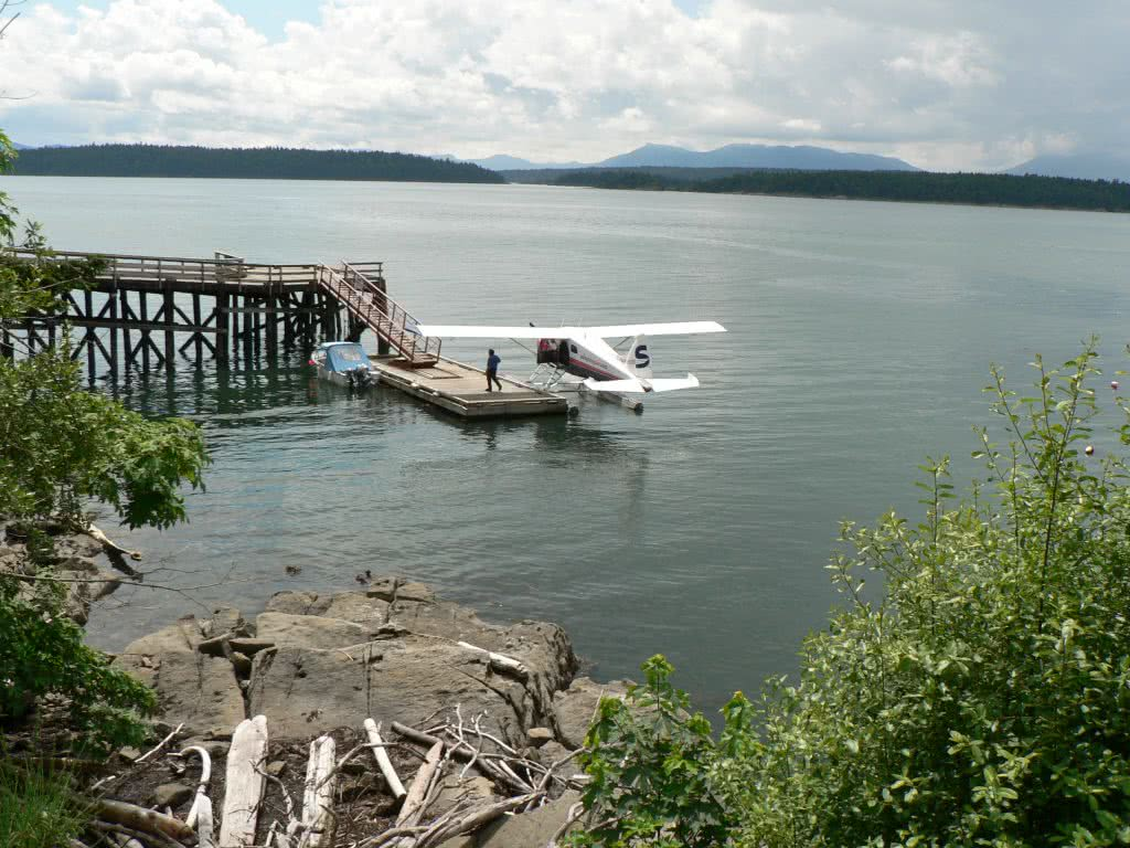 Seaplane Arriving At North Galiano Island