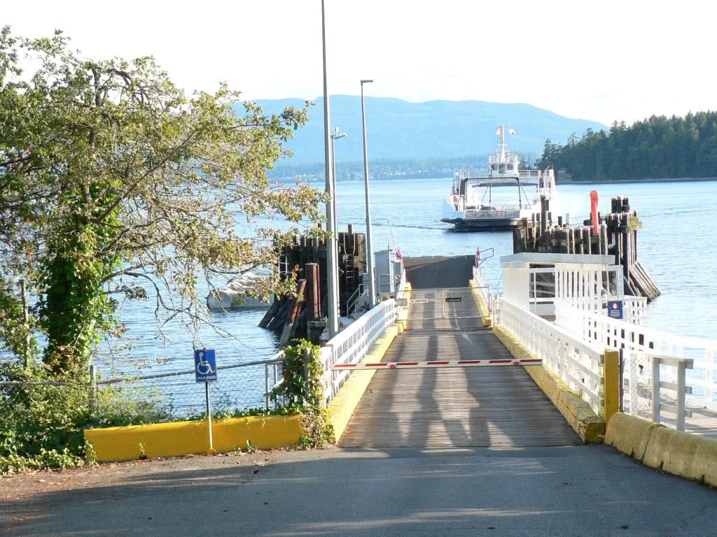 Ferry Arriving @ Thetis Island In Gulf Islands