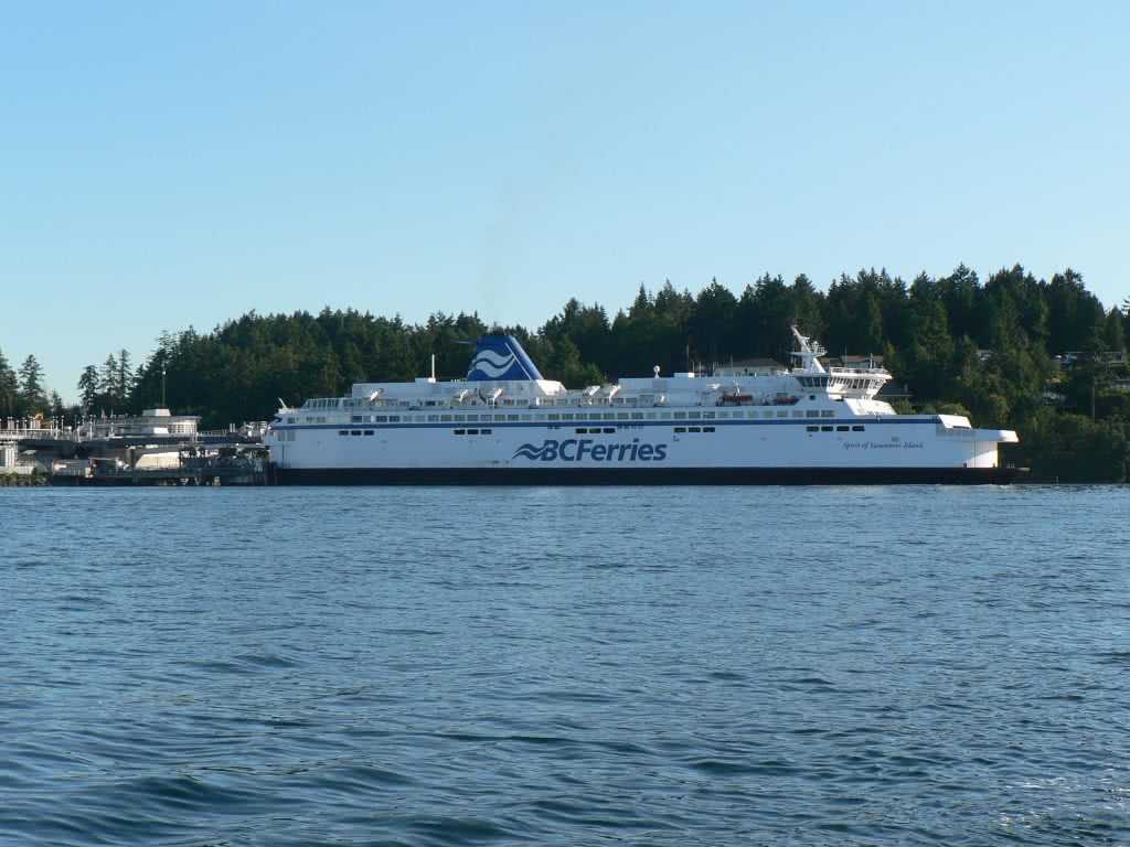 BC Ferry Leaving Swarts Bay