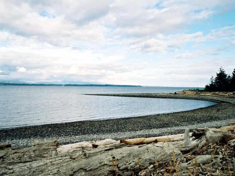 Beach-Ocean View From Gulf Island