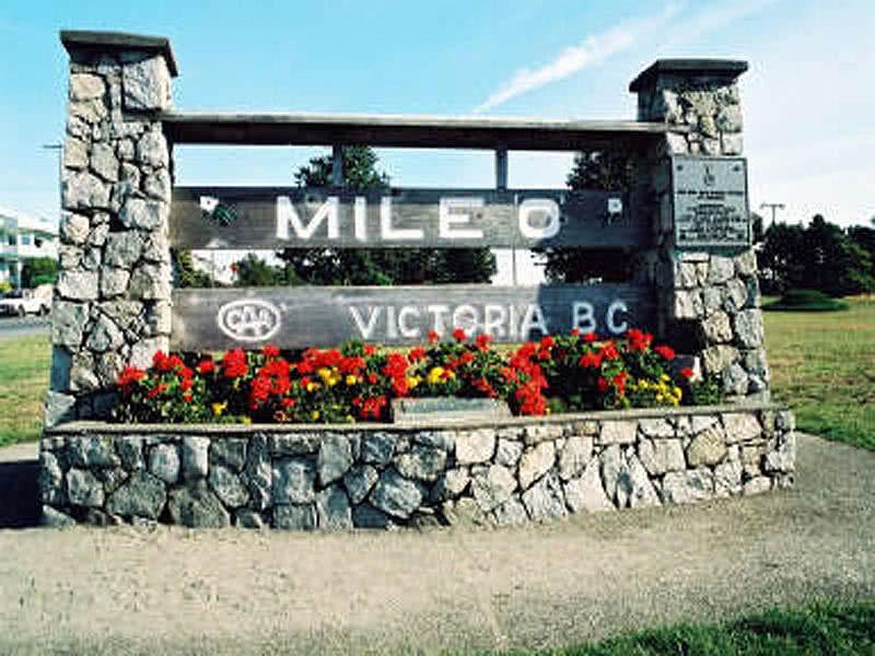 Mile Zero Victoria B.C. South