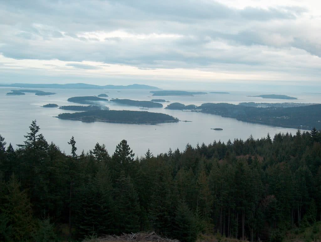 Islands View East From Salt Spring Isl.