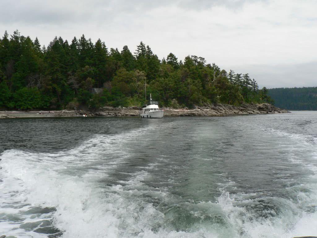 Leaving Pylades Island