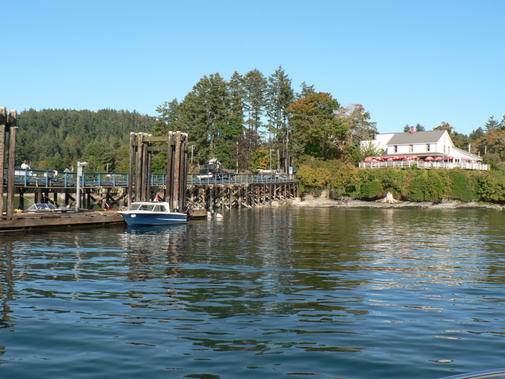 Mayne Island Dock In Front of Springwater Lodge