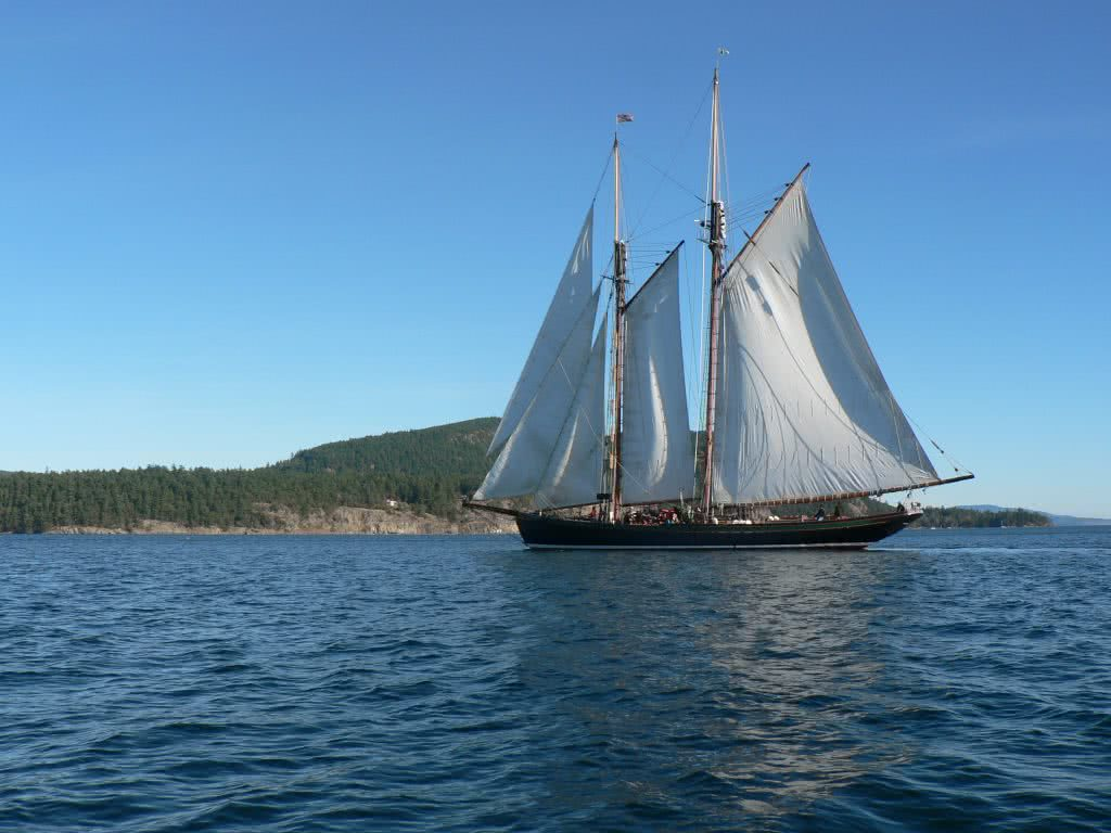 Tall Ship in Plumper Sound~Gulf Islands
