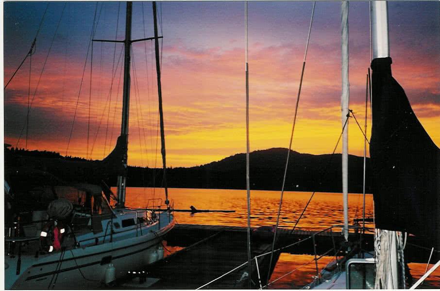 Sunset @ Musgrave Landing. Salt Spring Island