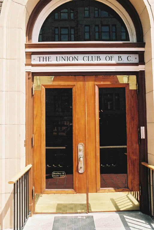 Union Club of B.C. Entrance, Victoria