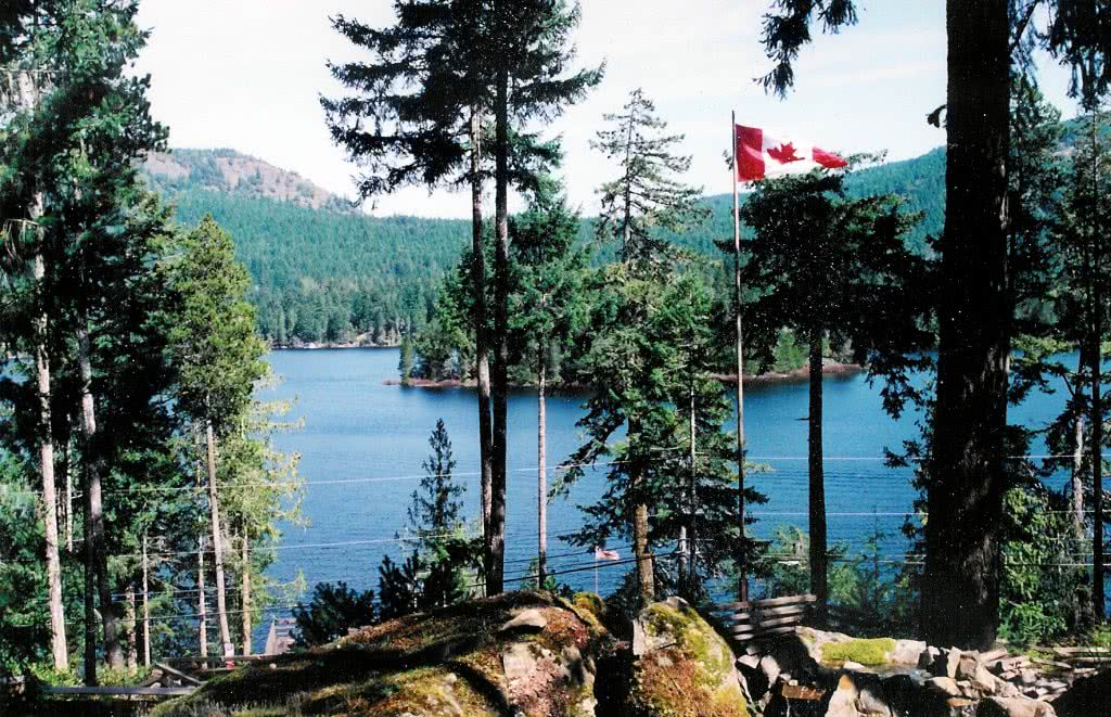 View From West Side Shawnigan Lake, Vancouver Island