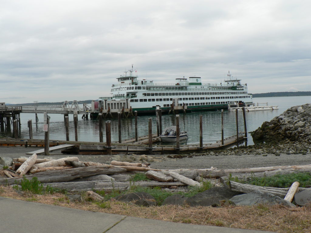 Washington State Ferry Arriving At Sidney, Saanich Peninsula