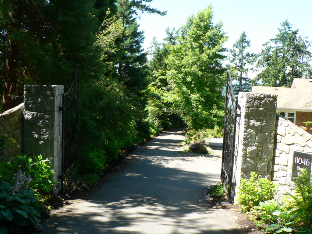 Entrance Gates 11046 Chalet Road Deep Cove, North Saanich