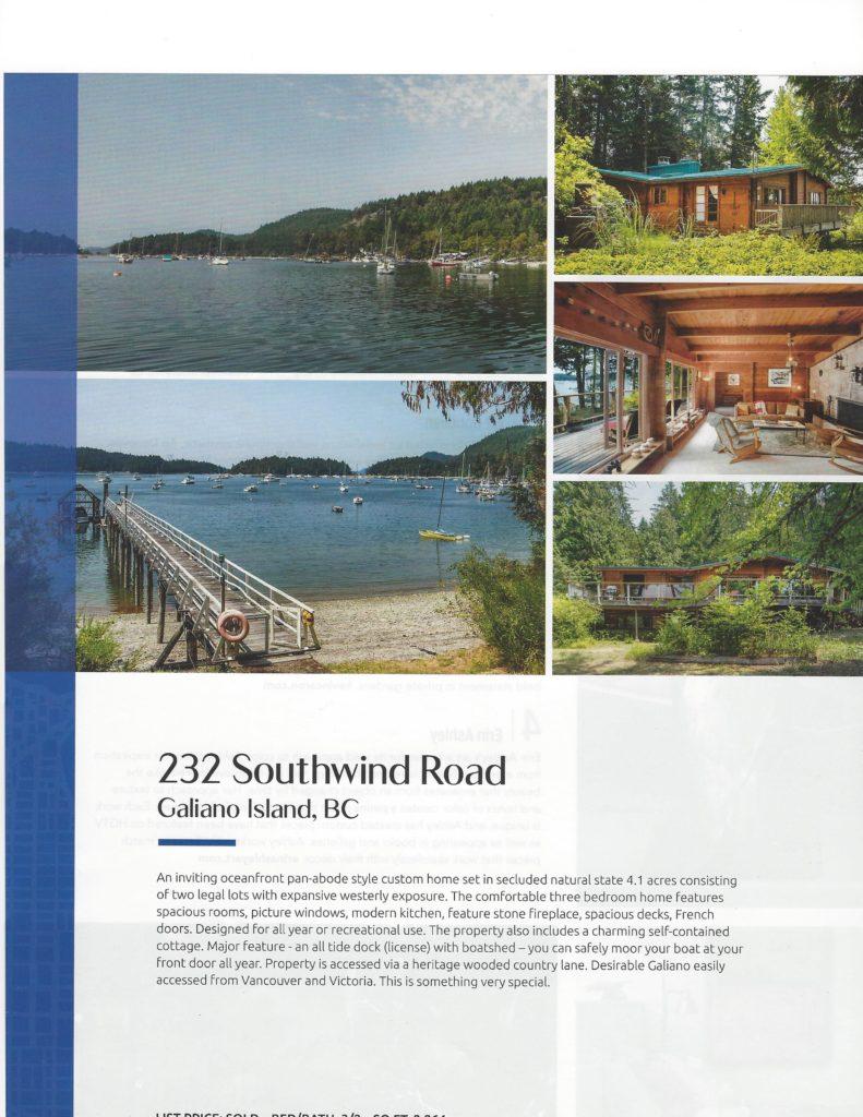 Macdonald Realty Luxury Magazine-Galiano Island~PeterNash.com Ad
