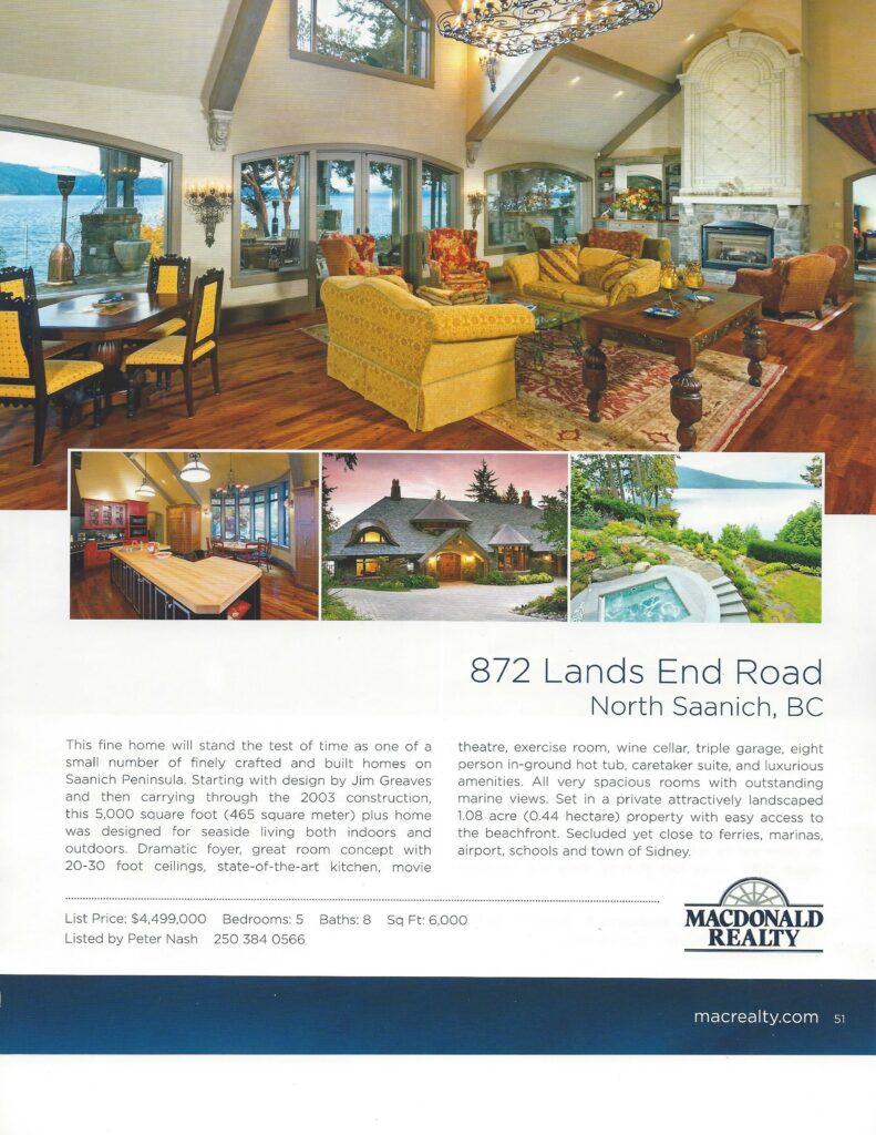 Oceanfront Luxury Home~North Saanich