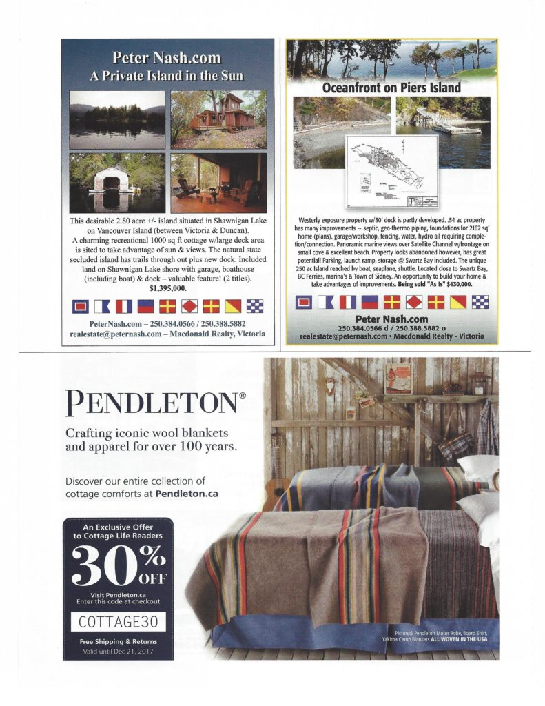 Cottage Life West Magazine 2018