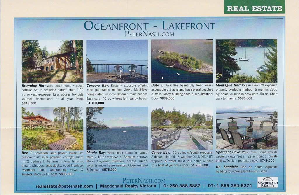 Cottage Magazine Oceanfront Lakefront 2013