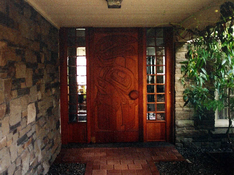 9730 West Saanich Hand Carved Door