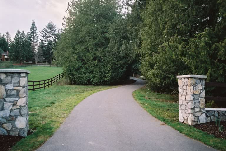 Entrance Forest Hill Road Equestrian Estate Saanich West