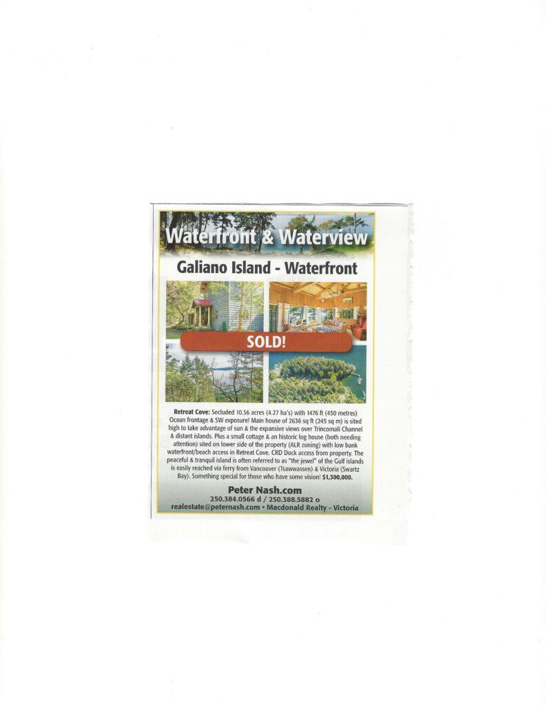 Cottage West Magazine~Galiano Island