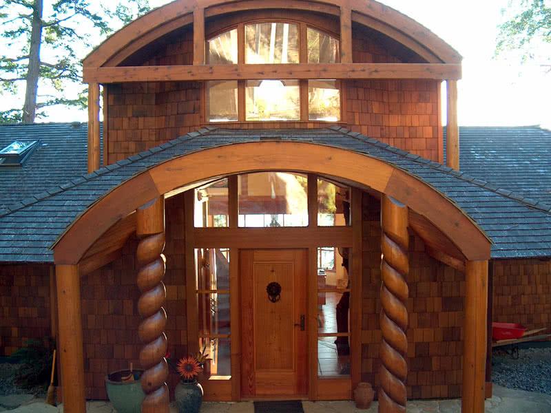Impressive Entrance Door, Porlier Pass Rd