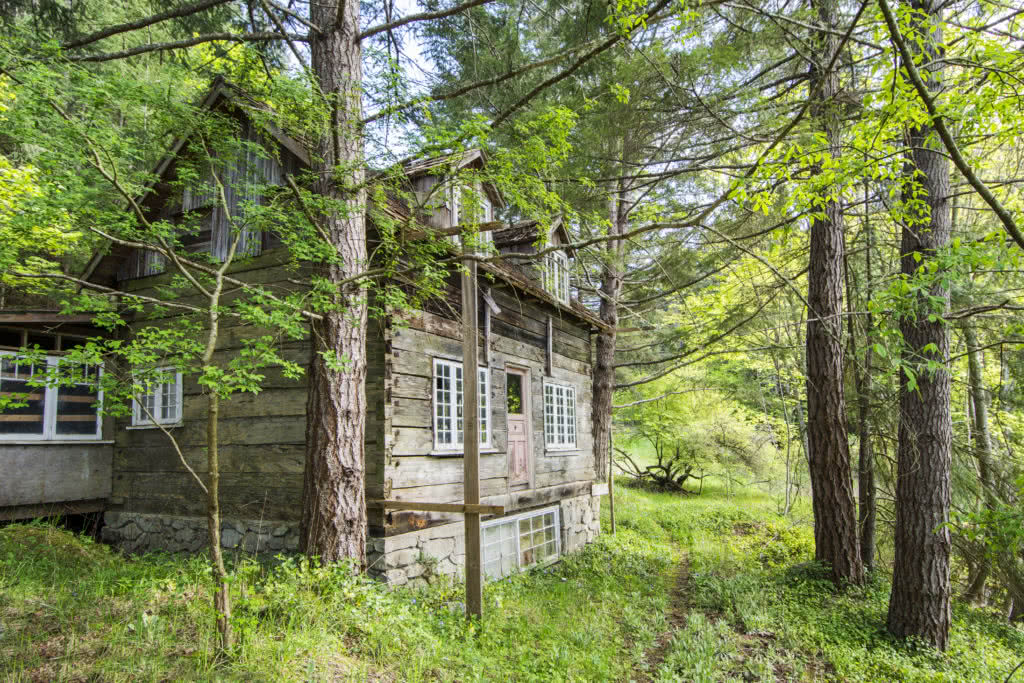 Historic Log House, Galiano Island
