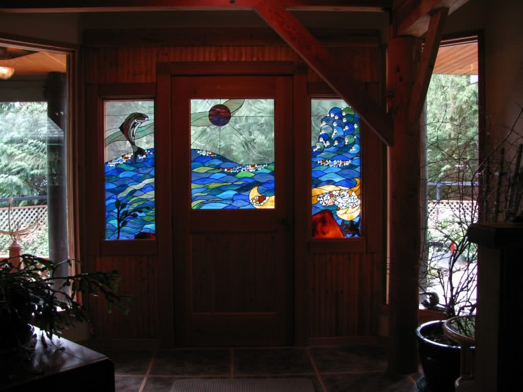 Stained Glass Font Door @ Kenwood Rd Thetis Island