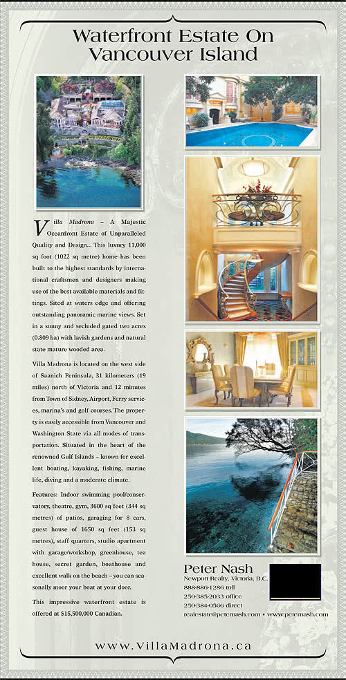 Villa Madrona Estate Ad 2011