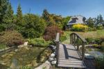Garden Bridge Leadimg to Cottages North Saanich Estate