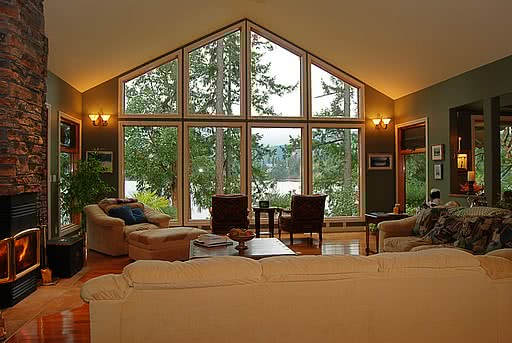 Window Fearn Way Living Room Overlooking Evening Cove, Ladysmith