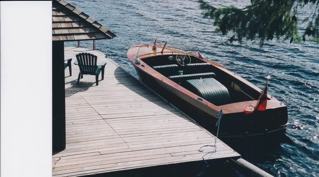 Dock Shawnigan Lake with Muskoka Runabout 2000