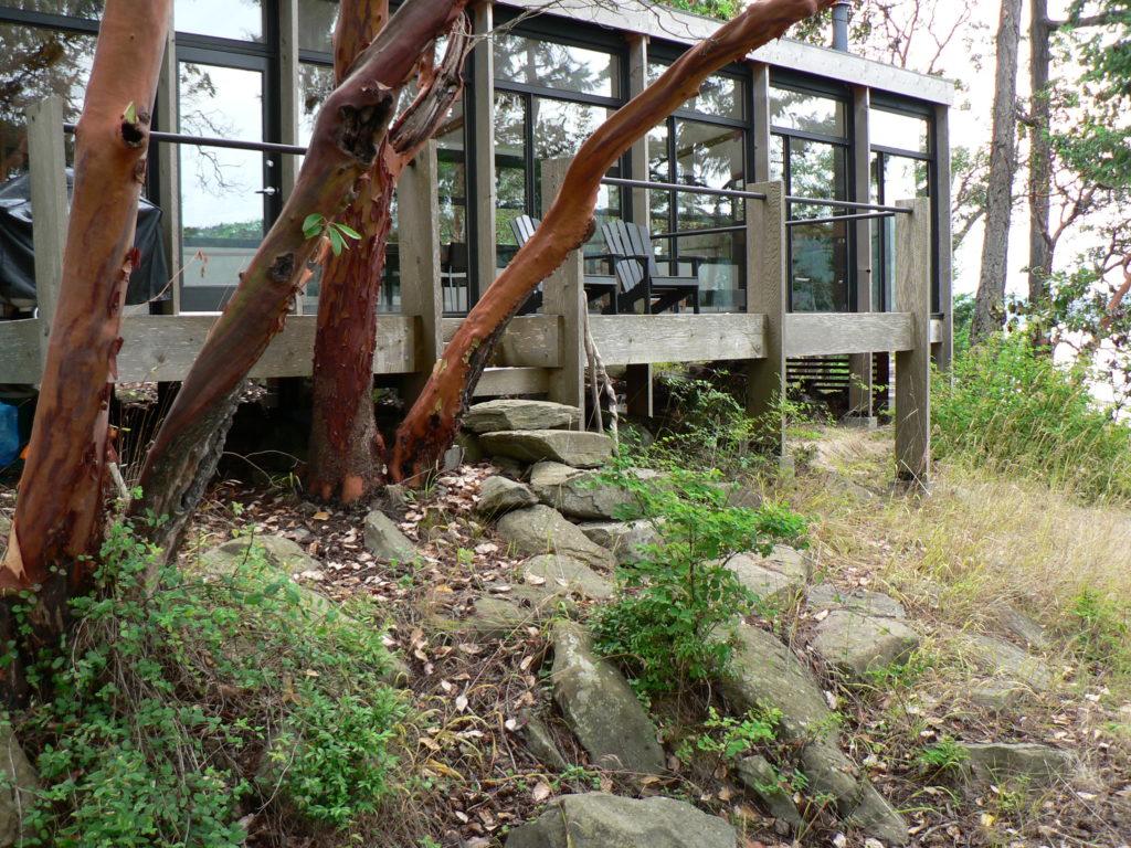 Deck on Wise Island Westcoasr Cottage