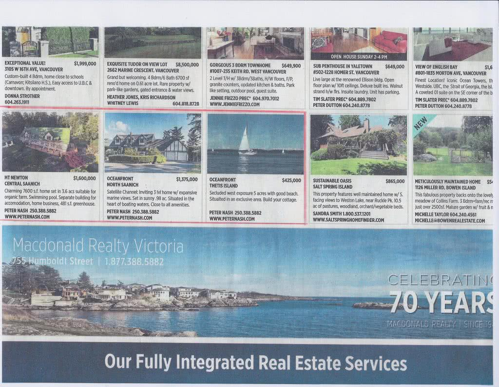 Vancouver Sun 3 Desirable Properties 2014