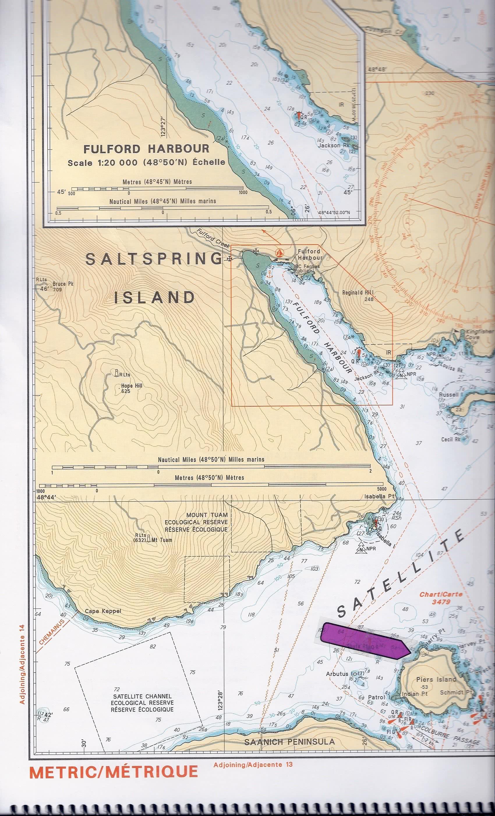 Chart Piers Island