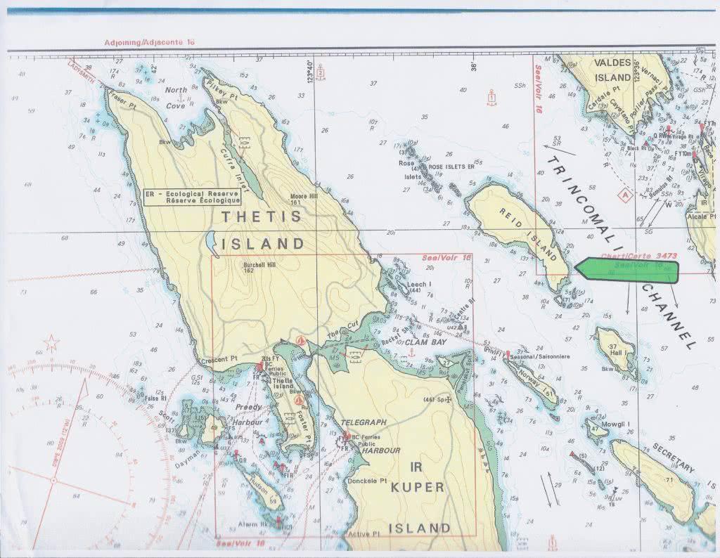 Chart Reid Island