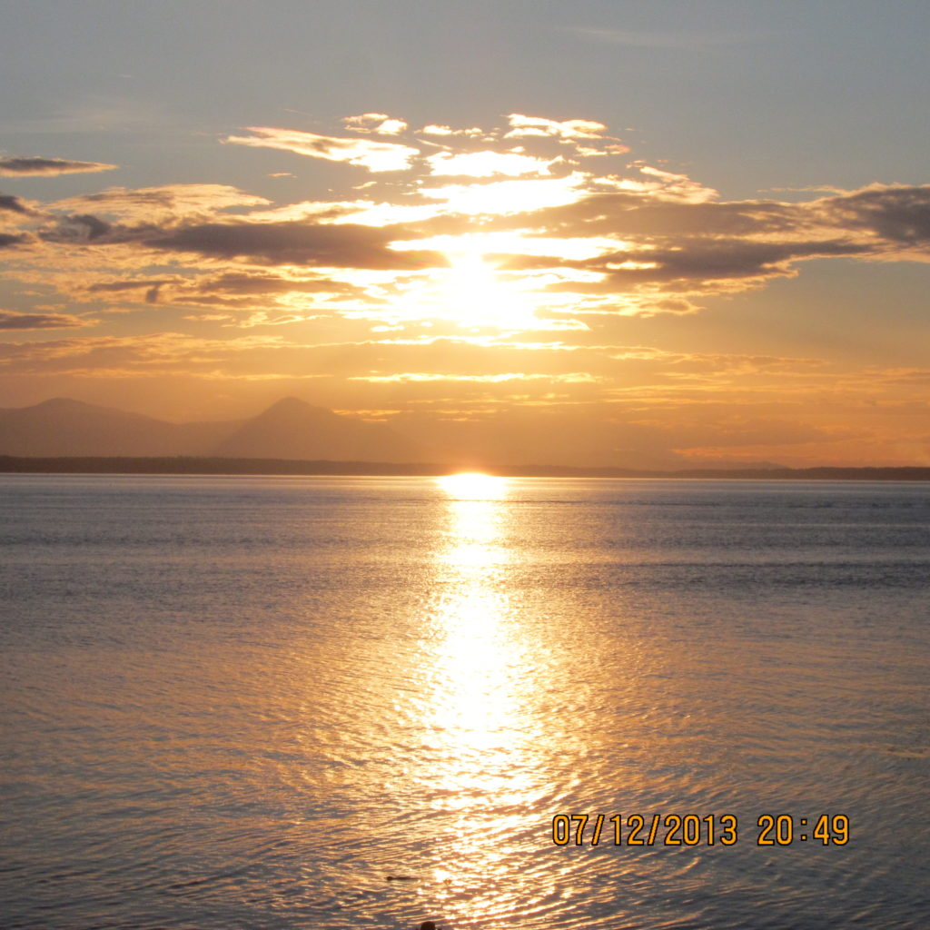 Sunset From Waterfront North Galiano Isand
