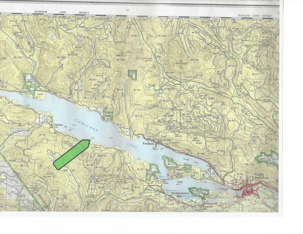 Map Showing Cowichan Lake