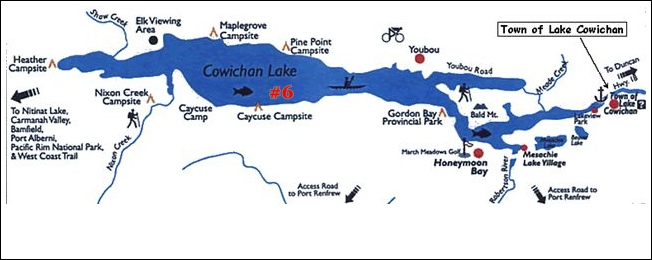 cowichan lake camping map Goose Island Block 1457 Aka Island 6 An Enchanting Natural cowichan lake camping map