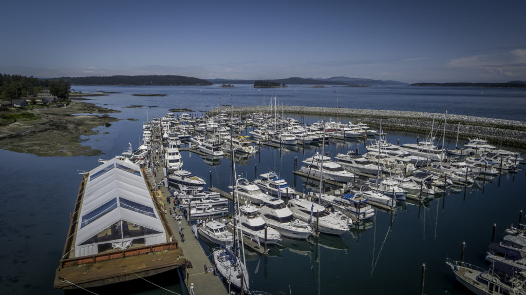 Aerial View Over Port Sidney Marina & Islands